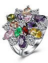 Pentru femei Zirconiu Cubic Inel - Zirconiu, Articole de ceramică, Oțel titan Lux 6 / 7 / 8 Argintiu Pentru Petrecere / Zilnic / Casual / Diamante Artificiale
