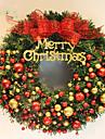 Crăciun, coroane ace de pin 2 culori Crăciun decorare pentru 40cm acasă partid diametru Navidad noi consumabile an