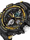SANDA Heren Sporthorloge Smart horloge Polshorloge Digitaal Japanse quartz Silicone Zwart 30 m Waterbestendig Alarm Chronograaf Analoog-Digitaal Luxe Informeel Modieus - Zwart Rood Blauw Twee jaar
