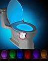brelong uppgraderad vattentät rörelse aktiveras toalett natt ledde toalett ljus badrum tvättrum dc4.5v