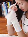 femei simplu neclare tricotaje geometrice cot lungime jumătate deget drăguț / partid / mănuși de iarnă casual,