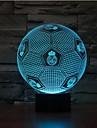 1 piesă 3D Nightlight Senzor Intensitate Luminoasă Reglabilă Rezistent la apă Schimbare - Culoare LED Modern/Contemporan