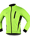 Arsuxeo Men\'s Cycling Jacket Bike Winter Jacket Top Thermal / Warm Windproof Breathable Sports Spandex Fleece Winter Red / Blue / Light Green Mountain Bike MTB Road Bike Cycling Clothing Apparel