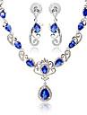 Pentru femei Sapphire sintetic / Sintetic Ruby / Diamant sintetic Set bijuterii - Aripi de inger Include Negru / Rosu / Albastru Pentru Petrecere / Zilnic / Casual