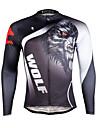ILPALADINO Maillot de Cyclisme Homme Manches Longues Velo Maillot Hauts/Top Sechage rapide Resistant aux ultraviolets Respirable