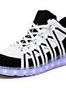 Bărbați Pantofi Sintetic Primăvară Vară Toamnă Iarnă Confortabili Cizme la Modă Pantofi Usori Adidași LED Pentru Casual Negru Rosu