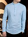 Formell Stil, Enfärgad T-shirt Herr