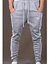 Bărbați Zvelt Simplu Activ Talie Medie,Micro-elastic Pantaloni Sport Pantaloni Dungi
