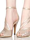 Latin / Jazz / Pantofi Dans / Modern-Pantofi de dans(Negru / Maro) -Personalizabili-Damă