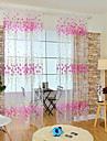 Un Panou Tratamentul fereastră Modern , Floare Cameră Copii Amestec poli/bumbac Material Sheer Perdele Shades Pagina de decorare For