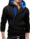 Bărbați Ieșire / Casul/Zilnic / Sporturi Simplu(ă) / Șic Stradă / Activ Regular Hoodies-Bloc Culoare Albastru / Roșu / Negru / GriManșon