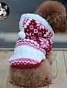 Chat Chien Manteaux Pulls a capuche Vetements pour Chien Respirable Garder au chaud Mode Motif de flocon de neige Marron Rouge Bleu
