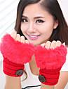 simplu neclare lungime tricotaje încheietura mâinii jumătate deget femei drăguț / partid / mănuși de iarnă casual,