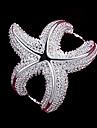 Pentru femei Inel de declarație - Plastic Stea de mare Modă 6 / 7 / 8 Argintiu Pentru Nuntă / Petrecere / Zilnic