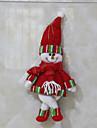 Holiday Decorations Christmas Toys Pomi de Crăciun Pungi de cadou Jucarii Costume Moș Om de zapada 2 Bucăți Crăciun Cadou