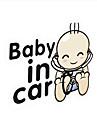 "lovely ""baby i bilen"" underbara barn bil pinne."