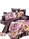 Duvet Cover Sets 3D Polyester Reactive Print 4 PieceBedding Sets / 4pcs (1 Duvet Cover, 1 Flat Sheet, 2 Shams)