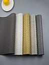 """2st europeisk stil hög kvalitet pvc matsal glasunderlägg bordstabletter (12 """"x18"""")"""