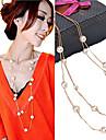 Pentru femei Toroane Coliere Bijuterii Perle Imitație de Perle Elegant de Mireasă costum de bijuterii Bijuterii Pentru Nuntă Petrecere