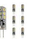 2W G4 Becuri LED Bi-pin Tub 24 SMD 3014 144 lm Roșu / Albastru / Verde Reglabil / Decorativ DC 12 V 10 bc