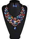Dame Seturi de bijuterii Perle Ștras Lux European Zilnic Perle Ștras Diamante Artificiale 1 Colier 1 Pereche de Cercei