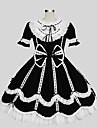 프린세스 고딕 로리타 여성용 드레스 코스프레 짧은 소매 무릎 길이 의상