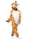 Ninos Jirafa Pijamas de una pieza Lana Polar Cosplay por Ninos y ninas Ropa de Noche de los Animales Dibujos animados Festival / Celebracion Disfraces