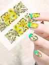1 Vattenövergångsklistermärke 3D Nail Stickers Blomma Tecknat Mode Vackert Dagligen Hög kvalitet