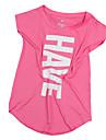 Dam T-shirt för jogging Kortärmad Andningsfunktion Bekväm Svettavvisande T-shirt Överdelar för Yoga Camping Motion & Fitness Löpning