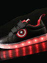 Băieți Pantofi PU Toamnă Iarnă Confortabili Pantofi Usori Adidași LED Pentru De Atletism Alb Negru