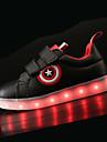 Băieți Pantofi PU Primavara vara Confortabili / Pantofi Usori Adidași LED pentru Alb / Negru