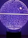 1buc forța trezește multi-colorate stea moarte lampă de masă 3d stea moarte lumina bulbing pentru Războiul Stelelor fani