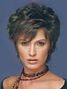 Ljudski kose bez kaplama Ljudska kosa Wavy / Prirodne kovrče Pixie frizura / Sa šiškama Stražnji dio Kratko Perika Žene