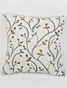1 buc modernă chenille florale țara pătrat caz pernă cu fermoar