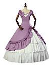 Une Piece/Robes Gothique Lolita Classique/Traditionnelle Elegant Victorien Rococo Princesse Retro Cosplay Vetrements Lolita FleurManches