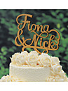 Cake Topper Classic Theme Rustic Theme Vintage Theme Classic Couple Wedding Anniversary with 1pcs Poly Bag
