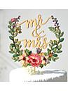 Vârfuri de Tort Nepersonalizat Cuplu Clasic Hârtie cărți de masă Nuntă Aniversare Petrecerea Bridal Shower GalbenTemă Grădină Temă