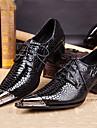 Bărbați Pantofi Nappa Leather Primăvară Vară Toamnă Iarnă Pantofi formale Oxfords Pentru Casual Party & Seară Negru