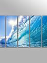 Impressions sur toile roulees Paysage Moderne, Cinq Panneaux Toile Format Vertical Imprime Decoration murale Decoration d\'interieur
