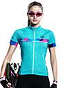 SANTIC 女性用 半袖 サイクリングジャージー バイク ジャージー, 速乾性, 抗紫外線, 高通気性
