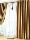 Blackout Curtains Drapes Bedroom Solid Colored Polyester Embossed