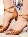 Latin - Pantofi de dans (Negru/Maro) - Personalizat - Pentru femei