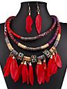 Pentru femei Franjuri Set bijuterii - Ciucure Include Negru / Rosu / Albastru Pentru Nuntă / Petrecere / Ocazie specială