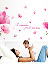 Mots& Citations Romance Floral Stickers muraux Autocollants avion Autocollants muraux decoratifs,Papier Materiel Decoration d\'interieur
