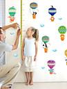 Djur Mode Tecknat Väggklistermärken Väggstickers Flygplan Dekrativa Väggstickers Höjdmätarstickers, Papper Hem-dekoration vägg~~POS=TRUNC