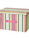 raylinedo® 39l pliabile haine cutie de depozitare panza organizator pătură dulap pulover caseta de acasă docor în dungi roz