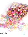 Lastik & Kravatlar Saç aksesuarları Silikon Kauçuk Plastik peruk Aksesuarları Genç Kız 2000 adet santimetre