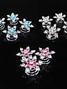 Coreia do sul fashionsnowflakes diamante parafuso bracadeira gelo cores acessorios para o cabelo 6pcs