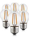 2W E26/E27 Bec Filet LED G45 2 led-uri COB Decorativ Alb Cald 190lm 2700K AC 220-240V