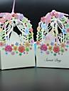 Creative Hârtie cărți de masă Favor Holder cu Panglici Cutii de Savoare
